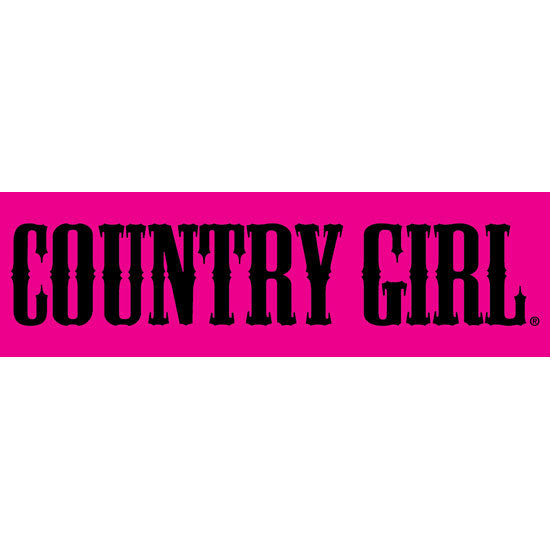 "Country Girl® Pink/Black - 10"" x 3"" Bumper Sticker"