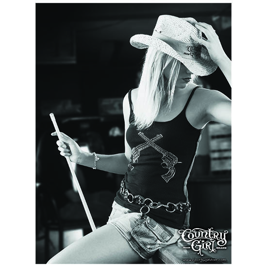 "Country Girl® Pool Shark - 18"" x 24"" Poster"