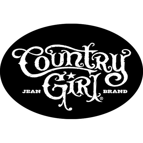 "Country Girl® Black/White - 6"" x 4"" Oval Bumper Sticker"