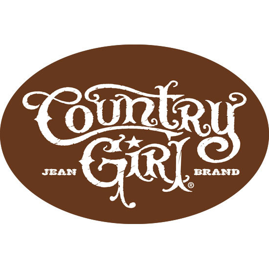 "Country Girl® Logo - 6"" x 4"" Oval Bumper Sticker"