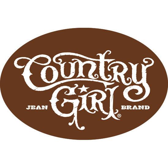 "Country Girl® Logo - 6"" x 4"" Oval Bumper Sticker"