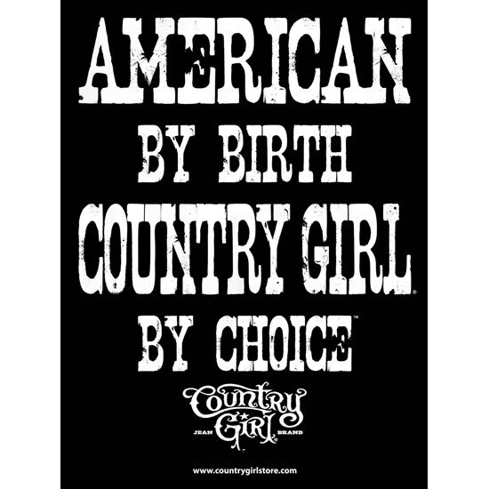 "Country Girl® by Choice Black/White - 18"" x 24"" Poster"
