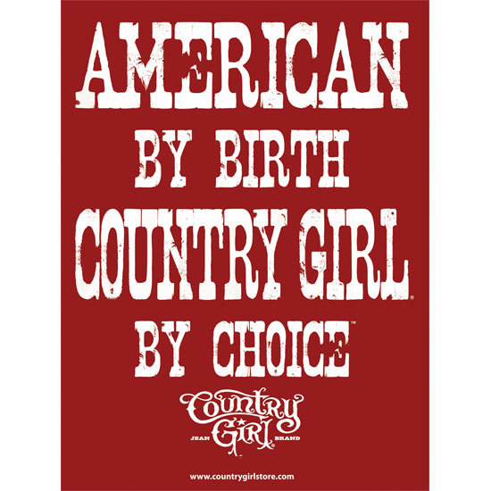 "Country Girl® by Choice Red/White - 18"" x 24"" Poster"