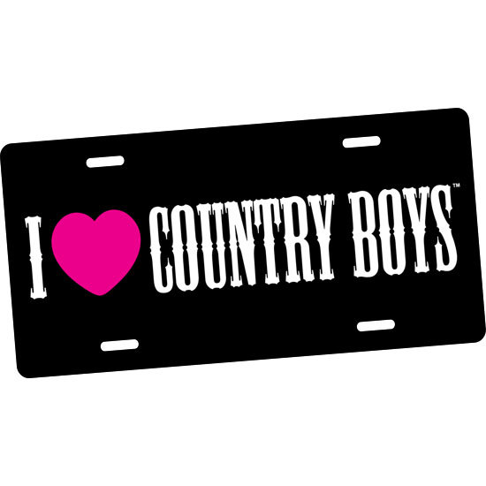 Country Girl® I Heart Country Boys - License Plate