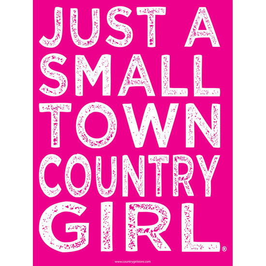 """Country Girl® Small Town - 18"""" x 24"""" Poster"""