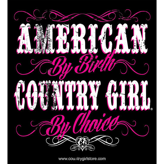 "Country Girl® American By Birth - 5"" x 5.5"" Sticker"