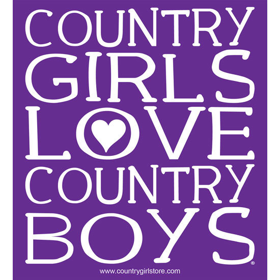 "Country Girl® Country Girls Love Country Boys - 5"" x 5.5"" Sticker"