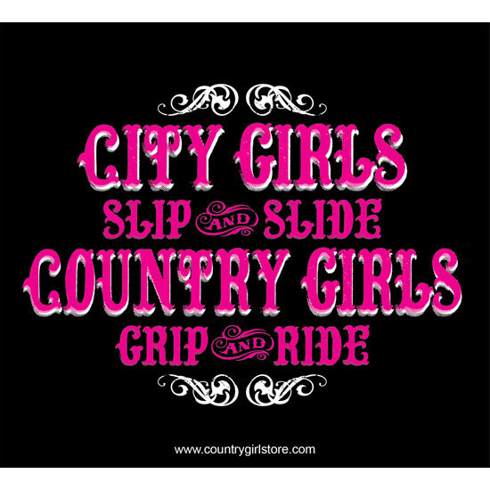 "Country Girl® Grip & Ride - 5"" x 5.5"" Sticker"