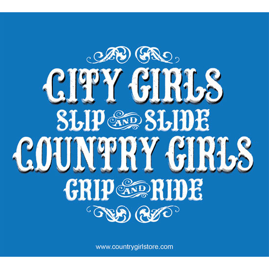 "Country Girl® Country Girls Grip & Ride - 5"" x 5.5"" Sticker"