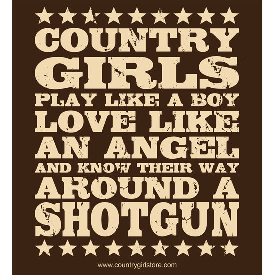 "Country Girl® Country Girls Shotgun - 5"" x 5.5"" Sticker"