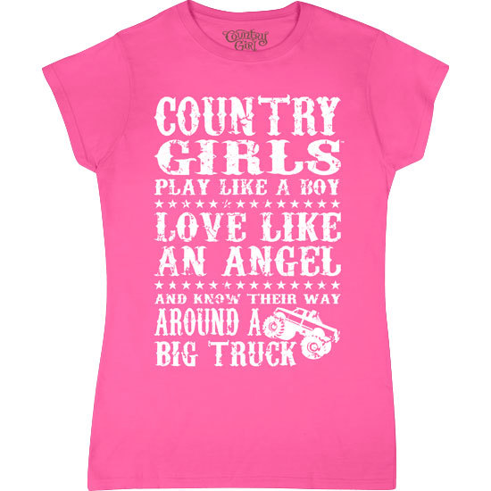 Country Girl® Big Trucks - Fitted Short Sleeve Tee