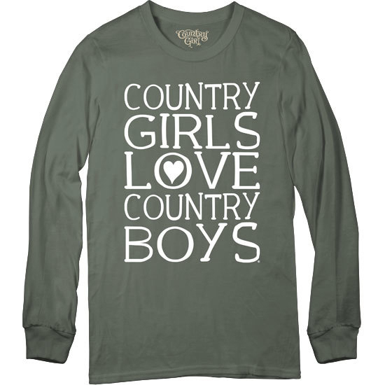 Country Girl® Country Girls Love CBs - Long Sleeve Tee
