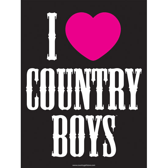 "Country Girl® I Heart Country Boys - 18"" x 24"" Poster"