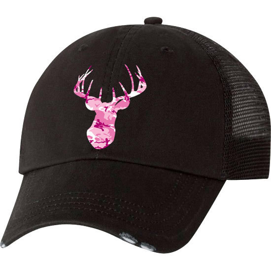 Country Girl® Deer Head Pink Camo - Trucker Hat