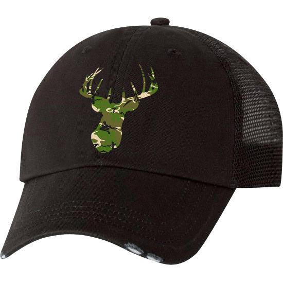Country Girl® Deer Head Green Camo - Trucker Hat