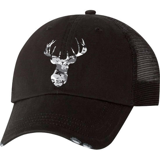 Country Girl® Deer Head Grey Camo - Trucker Hat