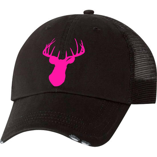 Country Girl® Deer Head Pink - Trucker Hat