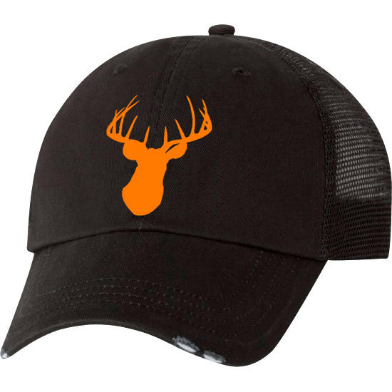 Country Girl® Deer Head Orange - Trucker Hat