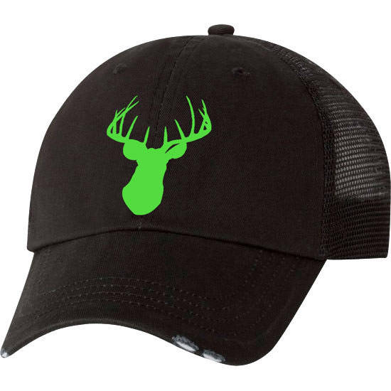 Country Girl® Deer Head Neon Green - Trucker Hat