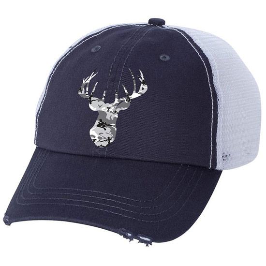 Country Girl® Grey Camo Deer Head - Trucker Hat