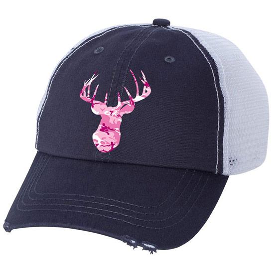 Country Girl® Pink Camo Deer Head - Trucker Hat