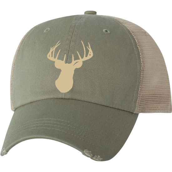 Country Girl® Ivory Deer Head - Trucker Hat