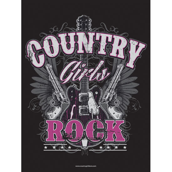 "Country Girl® Country Girls Rock - 18"" x 24"" Poster"