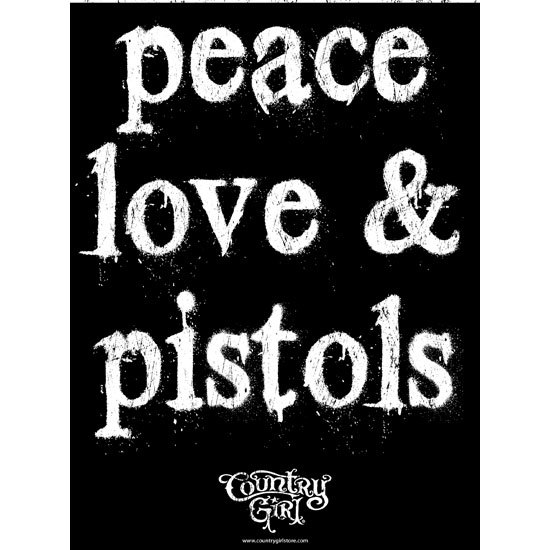 "Country Girl® Country Girls Peace Love Pistols - 18"" x 24"" Poster"