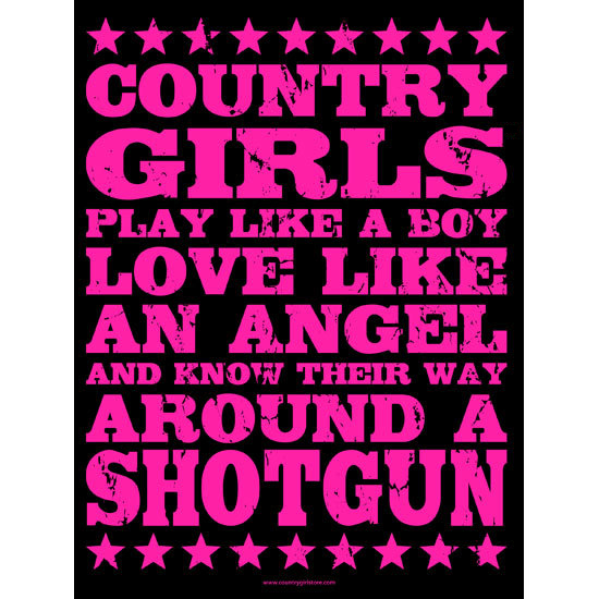 "Country Girl® Country Girls Shotgun - 18"" x 24"" Poster"