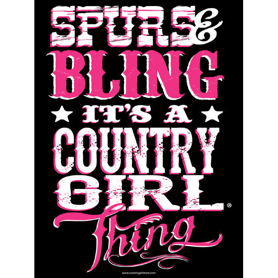 "Country Girl® Country Girls Bling Thing - 18"" x 24"" Poster"
