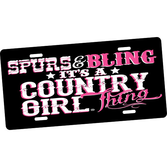 Country Girl® Bling Thing - License Plate
