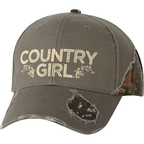 Country Girl® - Frayed Camo Cap