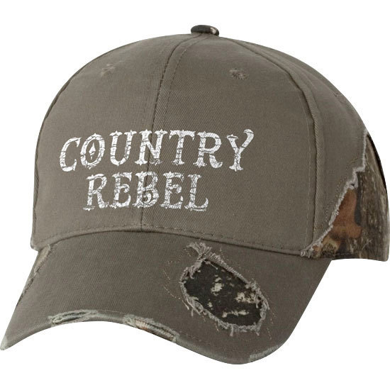 Country Girl® Country Rebel - Frayed Camo Cap