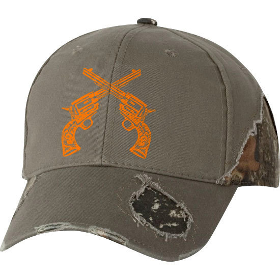 Country Girl® Crossed Guns - Frayed Camo Cap