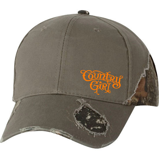 Country Girl® Logo - Frayed Camo Cap