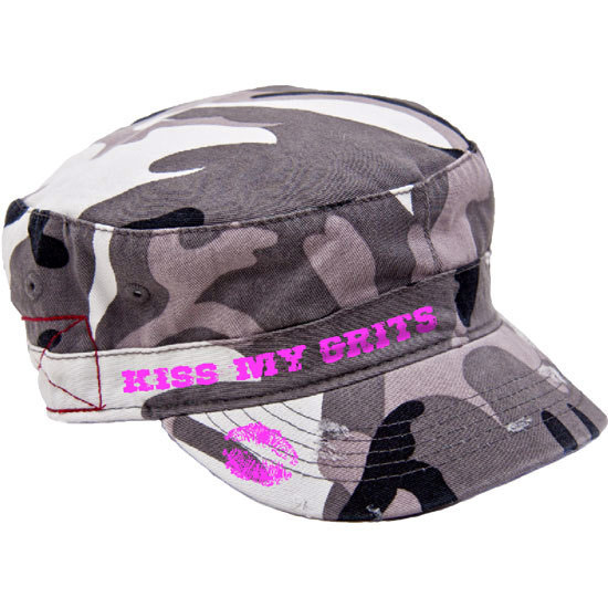 Country Girl® Kiss My Grits - Destroyed Camo Fidel Cap