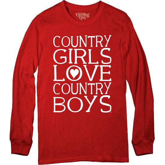 Country Girl® Country Girls Love CBs - Long Sleeve Tee