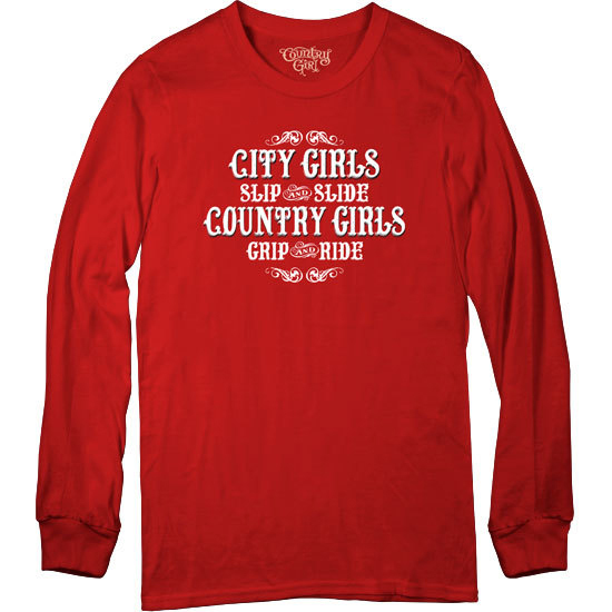 Country Girl® Country Girls Grip and Ride - Long Sleeve Tee