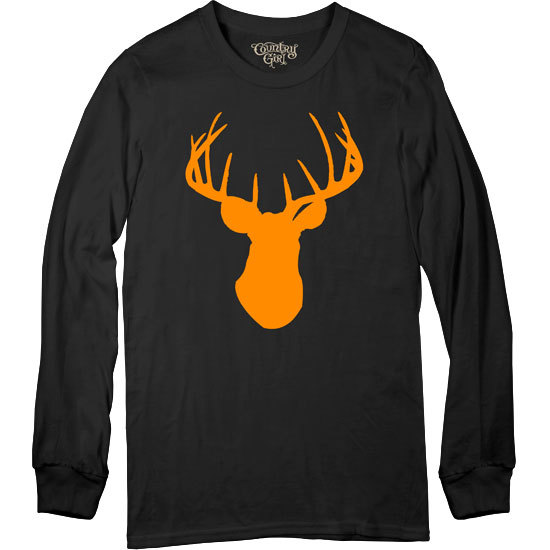 Country Girl® CG Orange Deer Head - Long Sleeve Tee
