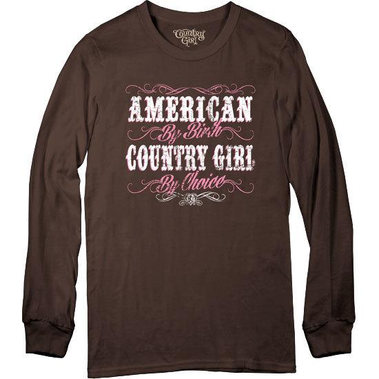 Country Girl® CG American By Birth - Long Sleeve Tee