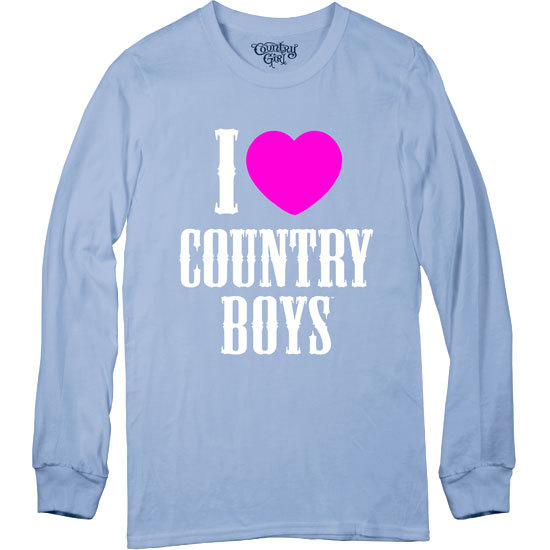 Country Girl® I Heart Country Boys - Long Sleeve Tee