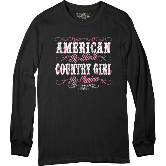 Country Girl® CG American By Birth - Long Sleeve Tee