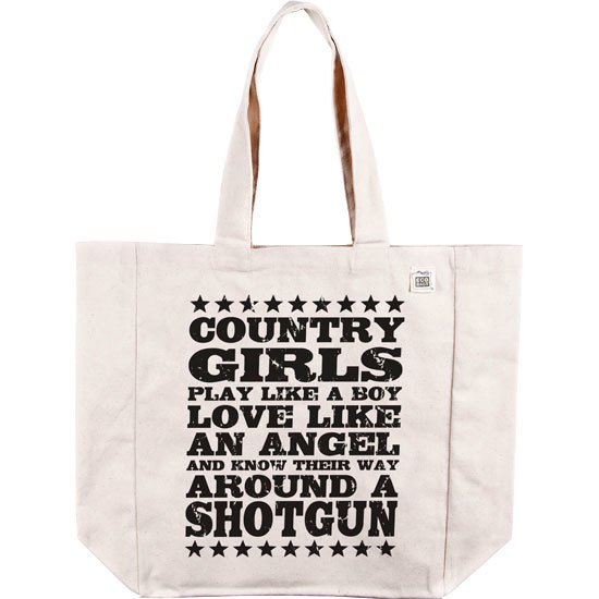 Country Girl® Shotgun - Organic Cotton Tote Bag