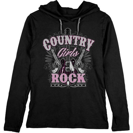 Country Girl® Rhinestone Rock - Lightweight Hooded Tee