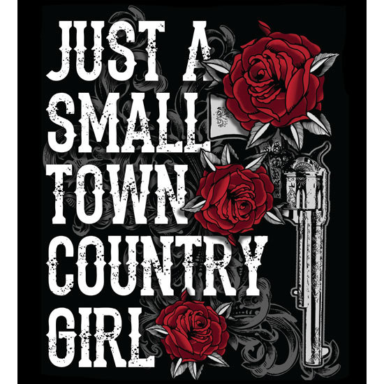 "Country Girl® Small Town CG - 5"" x 5.5"" Sticker"