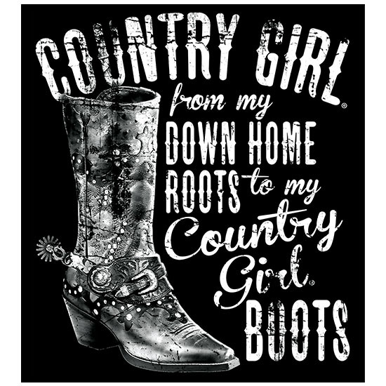 "Country Girl® Down Home Roots - 5"" x 5.5"" Sticker"