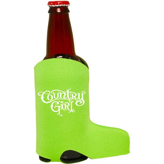 Country Girl® Logo Lime - Boot Koozie