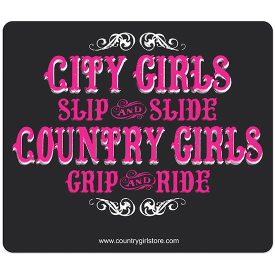 Country Girl® Country Girls Grip and Ride - Mouse Pad
