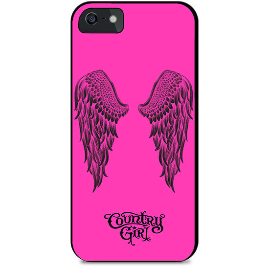 Country Girl® White Wings on Black - Phone Case/Cover