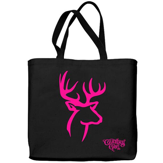 Country Girl® Pink Deer Logo - Lightweight Tote Bag